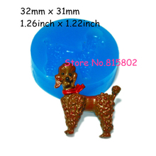 Free Shipping DYL091U Dog Silicone Mold Fondant 32mm - Bakeware Sugarcraft Miniature Food Moulds, Polymer Clay Food Safe