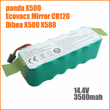 NI-MH 14.4V 3500mAh panda X500 X600 Battery High quality Battery for Ecovacs Mirror CR120 Vacuum cleaner Dibea X500 X580 battery