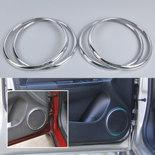 New Car Styling 4Pcs Chrome Audio Speaker Stereo Decorative Ring Cover Loop for Chevrolet Cruze 2009 2010 2011 2012 2013 2014