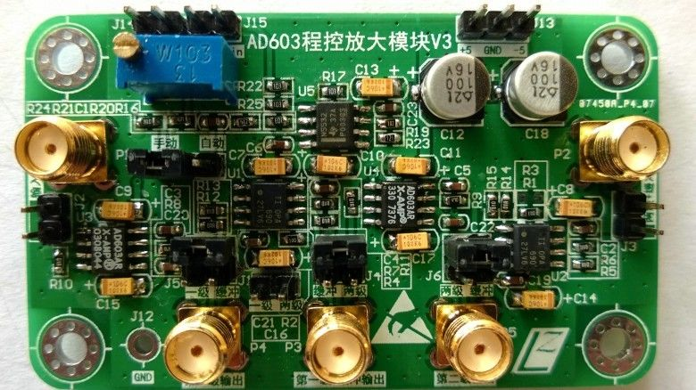 -10dB ~ 30dB Gain bandwidth AD603 Programmable Gain Amplifier Module<br>
