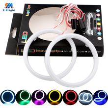 Angel Eyes 1Pair Auto Halo Rings Cotton Lights 12V 24V Headlight 2835 SMD Motorcycle 60MM 70MM 80MM 90MM 95MM 100MM 110MM 120MM(China)
