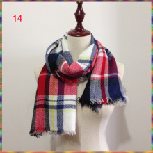 New Za Winter Children's Cashmere tartan plaid Scarf Kids scarves Boys Girls Designer Acrylic warm Bufandas blanket Shawls(China)