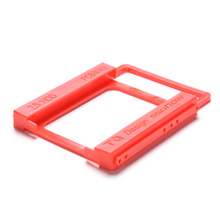 "Wholesale 2.5"" to 3.5"" SSD HDD Notebook Hard Disk Drive Mounting Rail Adapter Bracket Holder with Screws Red"