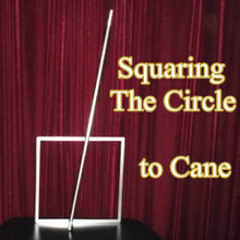 Squaring The Circle to Cane,silver stainless steel - magic Trick,cane magic,props,gimmick,accessories