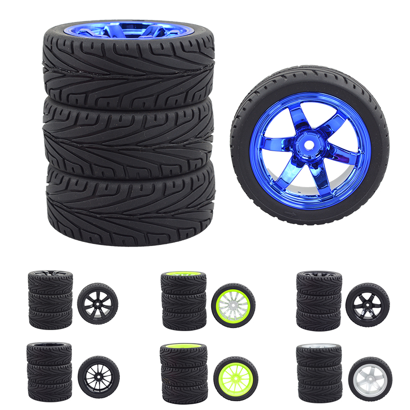 4pcs Rc Car 1/10 flat run drifting RV cherry CS/D4 tire racing flat ground wear-resistant finished tire Arbitrarily collocation<br>