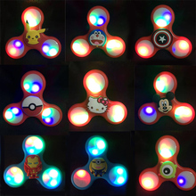 Cute Cartoon Character Fidget Hand Spinner Led Light Up Fidget Spinners Top Classic Toys Hello Kitty Captain American Cat EDC