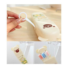 Teddy Bear Plastic travel toothpaste toothbrush box travel style teeth with portable dental equipment storage box(China)