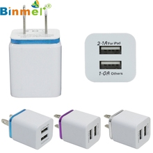 Factory price Hot Selling High Quality Home Travel Dual Port AC USB Wall Charger for iPhone for Samsung Galaxy Free Shipping Jan