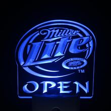 ws0180 Miller Lite Beer OPEN Day/ Night Sensor Led Night Light Sign(China)