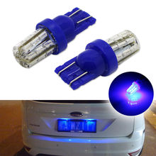 Ultra Blue 24-SMD T10 168 194 2825 LED Bulbs Fit For VW KIA Toyota Hyundai Seat Car License Plate Number Lights Universal car