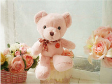 small cute light pink teddy bear toy lovely teddy bear doll gift about 25cm154(China)
