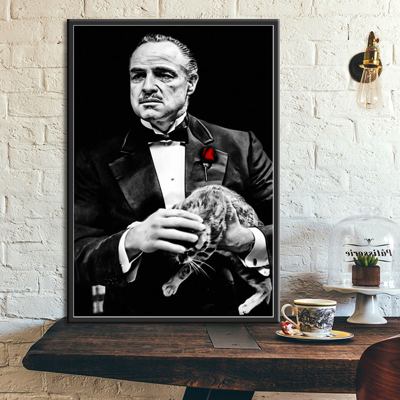 /' The Godfather /' Al Pacino Quotes Film Movie Canvas Print