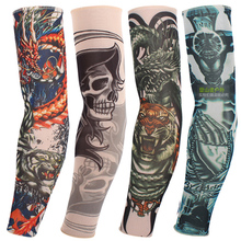 20 kinds buy 1 get 1 free Rock Arm Warmers fingerless gloves pulseiras de couro hand warmer UV sleeve tattoo punk metal
