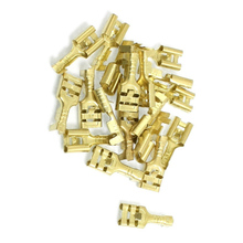 DSHA New Hot Brass 6.3 mm Connectors Female Spade Cable Terminals, 20 Piece