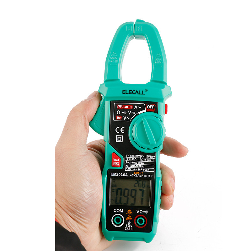 EM2016A 900A Peak Current Auto Range Clamp Head Frequency Measurement Smart Measurement Digital Clamp Meter<br>