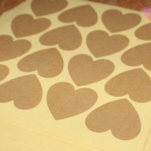 3.5*3.6cm DIY Blank Heart Shape Kraft Paper Seal Sticker Label Adhesive Tag Gift Decoration Sealing Label Baking Cookies Label