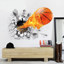 3D PVC Basketball Soccer Wall Stickers Background Home Decor for Kids Rooms Decorative Wall Art Removable Wall Stickers PTCT