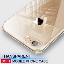 Ultra Thin Soft transparent TPU Case For iPhone 6 6s Plus 5 5s clear silicone Case Cover For iPhone 7 7 Plus Phone Bag Case(China)