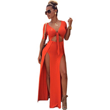aliexpress explosions pierced sexy clubbing dresses summer fashion sleeveless bandage dress women's clothing vestidos JS090