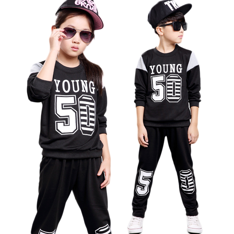 boys clothing set girls clothing children sport su...