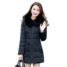 2017 Women Winter Jackets Coats Embroidered Thick Warm Hooded  Duck Down Padded Parkas For Women's Winter  Fur Jacket