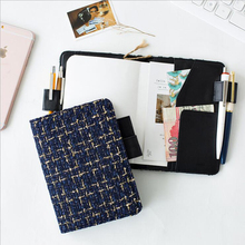A5/A6 Cloth Cover Cute Planner Schedule Notebook With Loose Sheet Card Pack Organizer DIY Multifunction Planner(China)