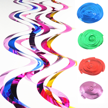 90CM 5pcs Happy Birthday Party Spiral PVC accessories arranged birthday party scene decorative ornaments foil Swirls Banner
