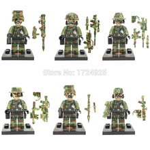 SY11101 6pcs/lot SWAT Block Military Figure Building Blocks Sets Model Bricks Toys No Original Box