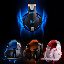 2016 Consumer Electronics 1PC USB Stereo Bass LED Gaming Headphone Headset Headband ForMic for PC Game H Onfine Leo(China)
