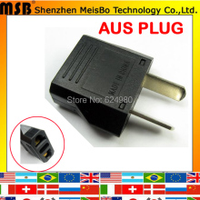 Standard black Australia 2pins Copper 125V 250V 6A AC electrical power US EU turn AU adapter Converter plug