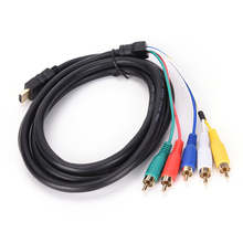 1.5M 5Ft HDMI Male to 5-RCA RGB Audio Video AV Component Adapter Converter Cable Cord HDMI Male to 5-RCA Cable