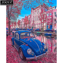 "5D diy diamond embroidery ""car on street"" full square drill diamond painting Cross Stitch Rhinestone mosaic home decoration ZS(China)"