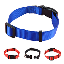 3 Colors 4 Sizes Pet Collar Red/Blue/Black Nylon Dog Puppy Pet Collar(China)