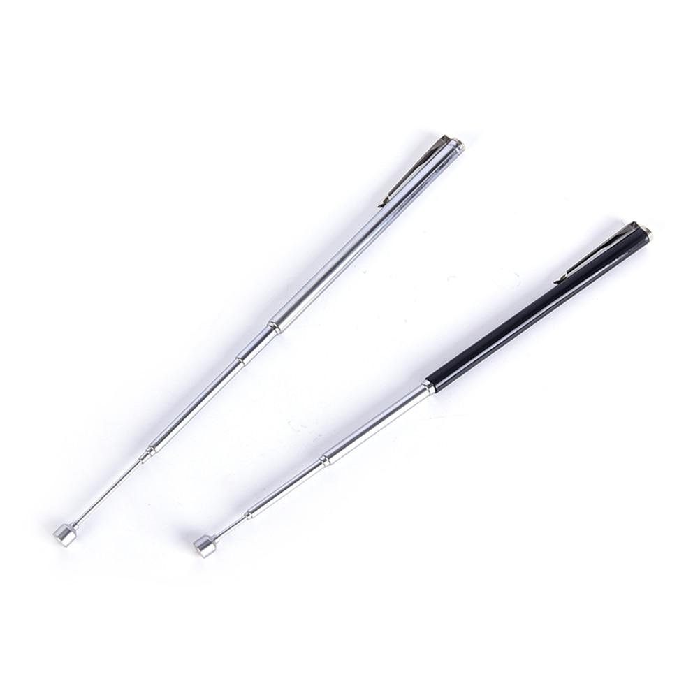 1pcs Pointer Pen Instrument Baton Section 6 Stainless Steel Telescopic Magic Ballpoint Pen Kindergarten Teacher Teaching Supply