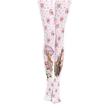 Buy Princess sweet lolita pantyhose Japanese cute cartoon 140D printed pantyhose retro small broken pattern girl rabbit LKW120