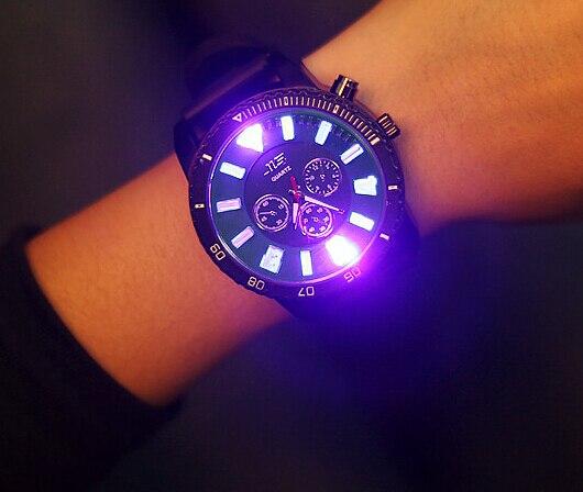 Luminous Large Dial Quartz Sports Watches Men Luxury Brand Business Watch Change Color Silicone Wristwatches Reloj Hombre AB990<br><br>Aliexpress