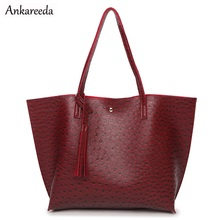 New Design Women Bag Luxury Tote Bags for Female PU Holder Handbags Fashion Ostrich Bags High Quality Shoulder Shopping Bags