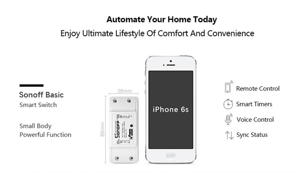 Sonoff Smart Wifi Switch, wifi light switch alexa, wifi light switch