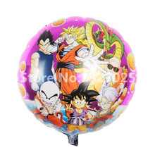 3pcs/lot 45*45cm Kids Anime Birthday Party Supllies Dragon Ball Foil Balloons Kids classic toys balons Animation globos juguetes