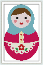 Russian dolls (3) cross stitch kit cartoon 14ct 11ct count print canvas stitches embroidery DIY handmade needlework plus