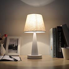 EM Table Lamp Metal Body Fabric Lampshade Modern Style Desk Light For Bedroom,Living Room,Bedside lamp WTL024
