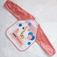 Waterproof Anti-Wear Apron Painting Drawing Coat for Children Costume Crafts DIY Paint antifouling aprons for kids Kindergarten(China)