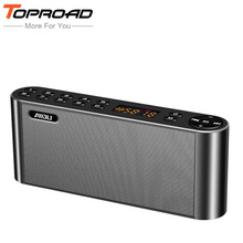 TOPROAD Wireless Bluetooth Speakers Portable Enceinte Speaker Handsfree MP3 With Mic TF FM HIFI Subwoofer Deep Bass Loudspeakers(China)
