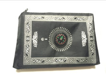 200pcs/lot Travel Pocket Prayer Mat with Compass Qibla Finder islamic muslim prayer mat with Pouch and Embedded