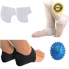 Plantar Fasciitis Therapy Wrap Kit 5 Pcs Massage Ball Arch Support Silicone Heel Sleeve