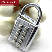 Rarelock ZS74 Anti-theft Button Combination Padlock Digit Push Password Lock for GYM Locker Drawer Cabinet Door DIY Hardware(China)