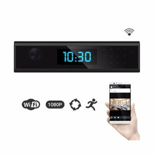 NEW 1920x1080 HD WIFI Mini Camera Clock Night Vision Wireless Nanny Cam IP Clock Support Android/iOS Phone View Video(China)