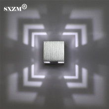 SXZM 3W led wall lights aluminum creative led lamp indoor lights for home energy-saving light AC85-265V free shipping
