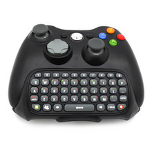Black Mini Bluetooth wireless Best Adapter keyboard Keypad Text Pad for Xbox 360 Controller Messenger Chatpadhappy time(China)