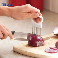 Convenient Kitchen Cooking Tool Onion Tomato Vegetable Slicer Cutting Aid Guide Holder Fruit Slicing Cutter Gadget